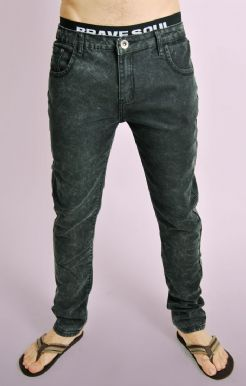 Acid Wash Denim Slim Fit Jeans